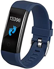 Smartwatch, Body Temperature Monitoring, Smart Bracelet, Heart Rate Blood Pressure Blood Oxygen, Step-By-Step Health, Monitoring, Smart Bracelet  Blue