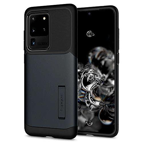 Spigen Slim Armor Hülle Grau kompatibel mit Samsung Galaxy S20 Ultra 637