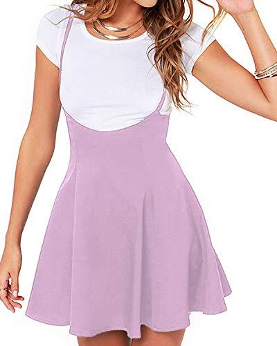 YOINS Rock Damen Mädchen Minirock Kawaii A Linie Mini Skater Rock Kleider für Damen Minikleid Skaterkleid,Hellrosa,S