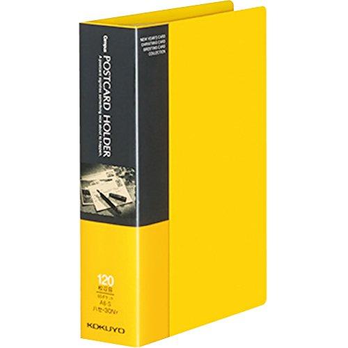 コクヨ ファイル ポストカードホルダー 固定式 A6 60ポケット 最大120枚収容 黄 ハセ-30NY