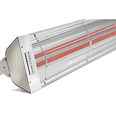 Infratech WD4024SS Dual Element - 4000 Watt Electric Patio Heater, Choose Finish: Stainless Steel