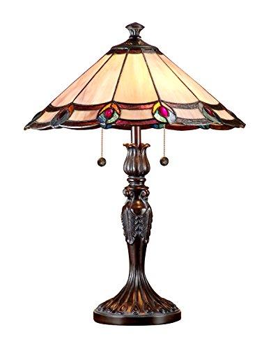 Dale Tiffany TT101081J Aldridge Peacock Table Lamp