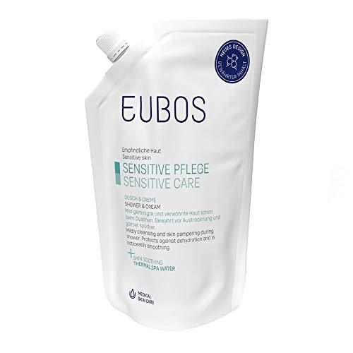 Eubos | Dusch & Creme Nachfüllbeutel | 400ml | für normale bis trockene Haut | Hautverträglichkeit dermatologisch bestätigt