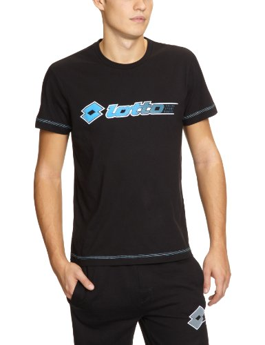 Lotto Phil T-shirt à manches courtes pour homme Noir noir Small