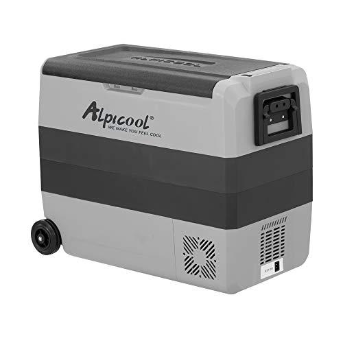 Alpicool T60 Dual Temperature Control 12 Volt Refrigerator 63 Quart Portable Car Fridge Freezer (-4°F~68°F) for Truck, RV, Boat, Camping and Travel