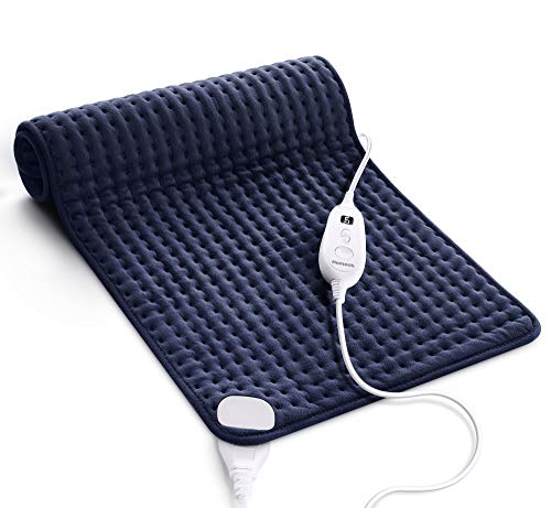 Homech Heating Pad for Back Pain and Cramps - XXX-Large [33 x 17 Inch] Ultra-Soft Heat Pad with Dry & Moist Heat Therapy, 6 Temperature Settings, Auto Shut-Off