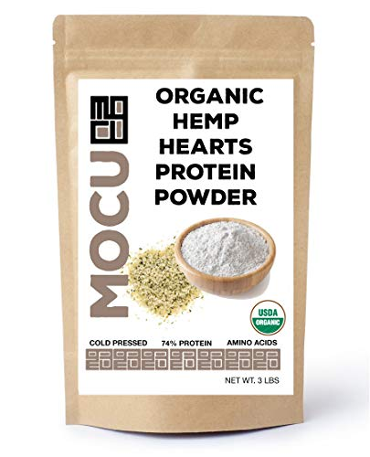 Organic Hemp Heart Protein Powder-74% | 22 Grams Protein Per Serving I Cold Processed & Stored | Made from The Hemp Heart | 3 LB