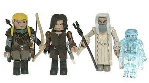 Lord of The Rings - 4-Pack: Aragorn, Saruman, Legolas + 1 Hidden Figur Twilight Frodo ? (approx. 6-7 cm) - Minimates / Mini Mates - Artasylum - New Line Cinema