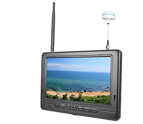 Gowe 5,8G 17,8 cm FPV-Monitor mit integriertem Dual 32-Kanal-Diversity-Empfänger für DJI Phantom Inspire 1 DSLR-Kamera