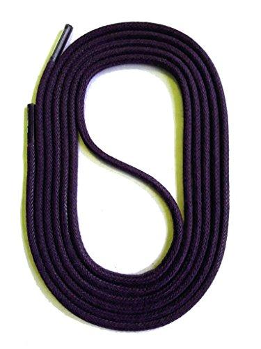 SNORS gewachste Schnürsenkel RUND LILA 45cm, 2mm, reißfest, Rundsenkel aus Baumwolle Made in Germany für Lederschuhe, Herrenschuhe, Business-Schuhe, Anzugschuhe, Damenschuhe