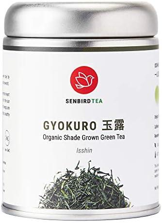 Senbird Organic Gyokuro Tea Shade Grown Green Tea Gyokuro Isshin 1 76oz 50g Japanese Imperial product image