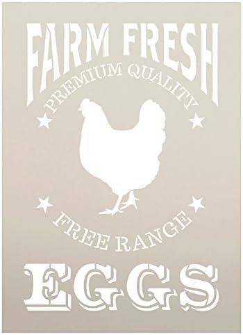Fresh Eggs STENCIL CRATE Panels CFRE Vintage English Market SUPERIOR 250 MYLAR