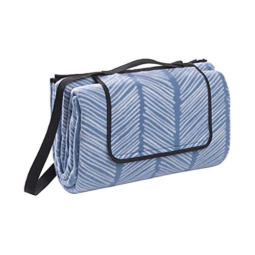 Butlers GET Together - XXL Picknickdecke in Blau-Weiß - Outdoordecke L 200 x B 200 - Stranddecke