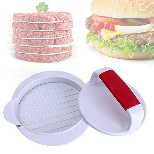 "ANEUHS Burger Press Hamburger Press Patty Maker Mold Perfectly Sized 4 5/8"" Burger Mold Rings Easy Release Hamburger Patty Press for BBQ Grill Accessories"