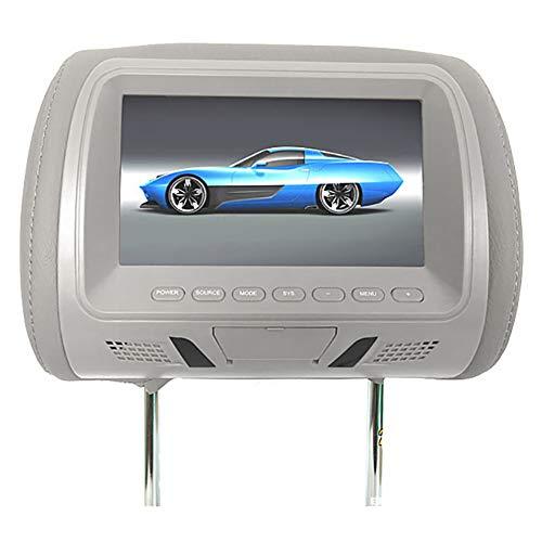 Gemini_mall - Monitor per poggiatesta, universale, 7 pollici, per sedile posteriore, lettore multimediale per intrattenimento, per DVD e videogiochi