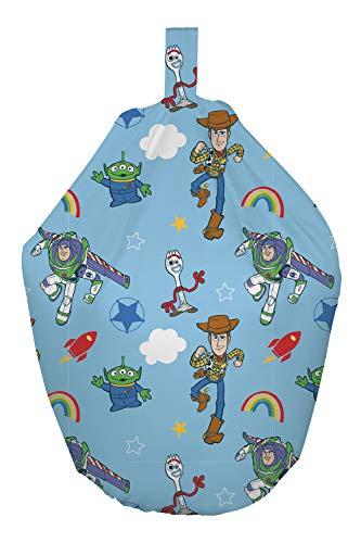Pouf officiel Toy Story 4 – Design sous licence officielle Bleu rugissement | Parfait pour toute chambre d'enfant ou salle de jeux
