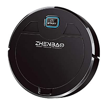 Robot Vacuum, Robotic Vacuum Cleaner with 1600Pa Strong Suction, Pet Hair, Carpet & All Types of Floor ( Black)