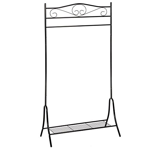 TecTake Antik Kleiderständer Metall Garderobenständer - Diverse Farben - (Schwarz | Nr. 402010)