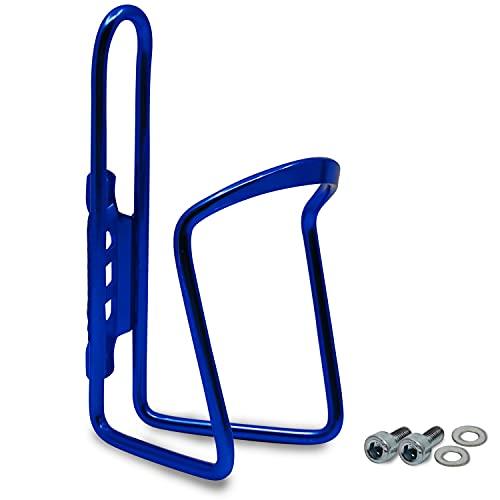Flaschenhalter Fahrrad Blau aus Aluminium Extra Verstärkt für Rennrad MTB Trekkingrad Kinderfahrrad Universal Passend Getränkehalter mit Montageschrauben Trinkflaschenhalter Trinkflaschenhalterung