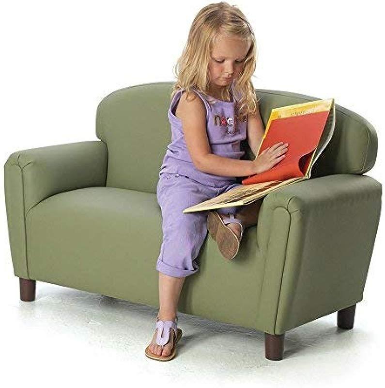 Brand New World Furniture FP2S100 Brand New World Preschool Enviro Child Upholstery Sofa Sage