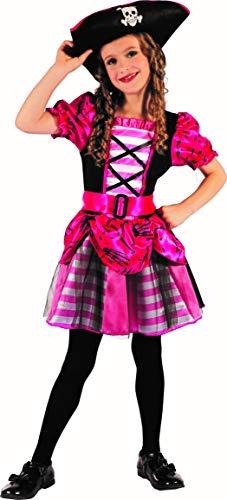 Magicoo Meeresprinzessin Piratenkostüm Mädchen Kinder Gr 110 116 122 128 134 140 inkl. Kleid & Hut - Pirat Kostüm Fasching (110/116)