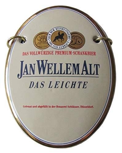Brauerei Schlösser - Jan Wellem Alt - Das Leichte - Zapfhahnschild - 12 x 9 cm
