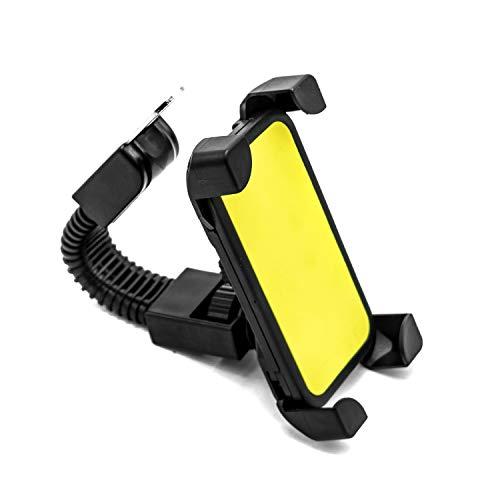Soporte para Teléfono Móvil para Bicicleta,Trpambvia Soporte Universal para Teléfono Móvil para Motocicleta Giratorio de 360 Grados Compatible con Teléfonos 4,5 y 7 Pulgadas,Amarillo