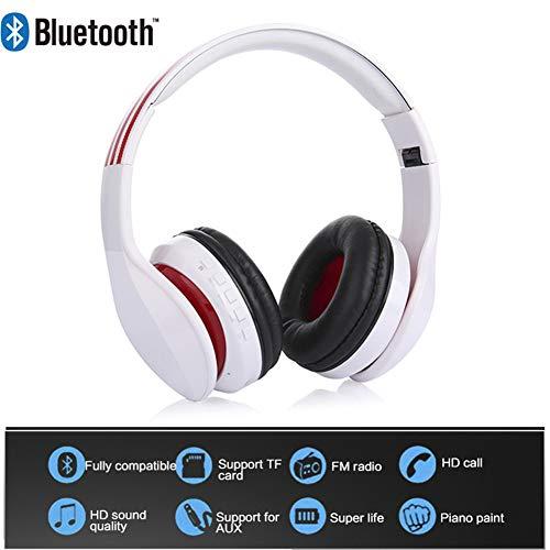 Hoofdband Muziek Bluetooth Hoofdtelefoon Sport Nieuwe Met Microfoon Ondersteuning TF Kaart FM Radio Beste Hoofdtelefoon Draadloze Rood Zwart Voor Mobiele telefoon, PC, Tablet,
