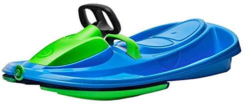 Airjoy Lenkbob Kunststoffrodel Schlitten Snow Champ Deluxe - Blue-Green
