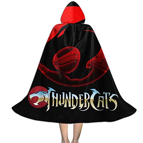 Thundercats Hooded Cloak Velvet Cape Role Play Children Red Riding Hood Cosplay Costume 7-9 Years