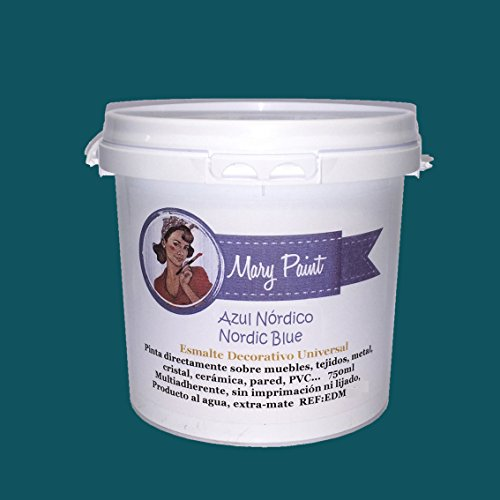 Mary Paint | Pintura para muebles efecto Chalk Paint, Azul Nórdico - 750ml