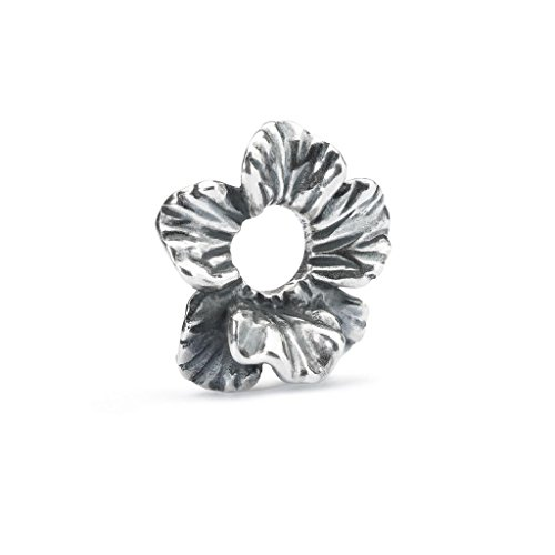 Trollbeads Damen-Bead Fantasie-Hibiskus 925 Silber - TAGBE-10180