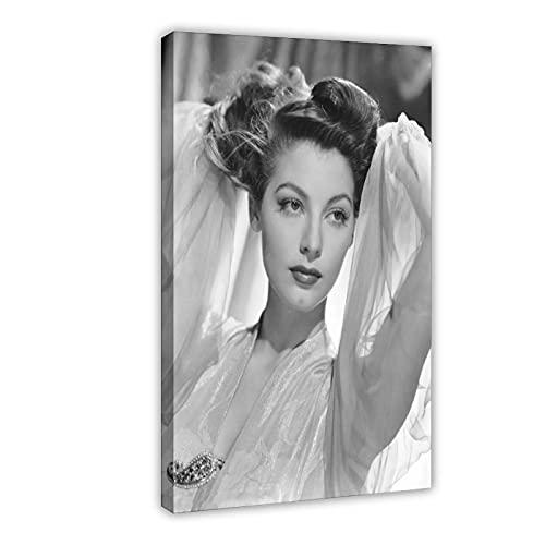 Vintage Beauty Poster Ava Lavinia Gardner 23 Leinwand Poster Wandkunst Dekor Druck Bild Gemälde für Wohnzimmer Schlafzimmer Dekoration Rahmen: 50 × 75 cm