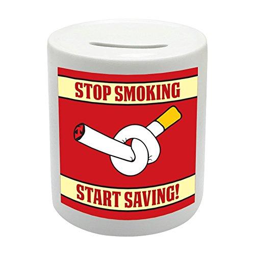 Ahorro de la novedad regalo de Inicio bs065dejar de fumar impresa cerámica Hucha CAJA del ahorro del dinero