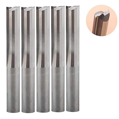 5 stks/partij 6 * 22MM Carbide Twee/Dubbele Fluit Rechte Slot Router Bit,GFHDGTH CNC Carving Graveren Gereedschap voor Houtfrees