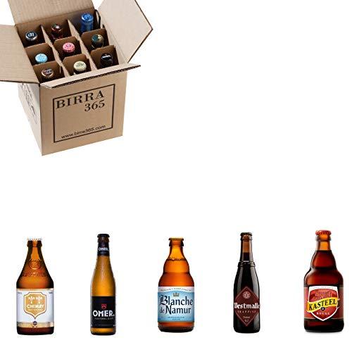 Caja degustación 9 cervezas especiales con 5 estilos, perfecta para compartir.