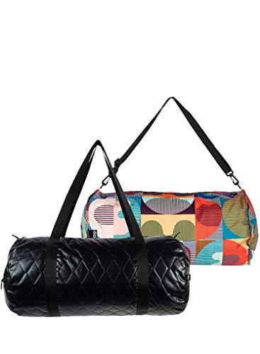 LOQI LOQI Quilted Black Weekender Sports Bag, 50 cm, Black