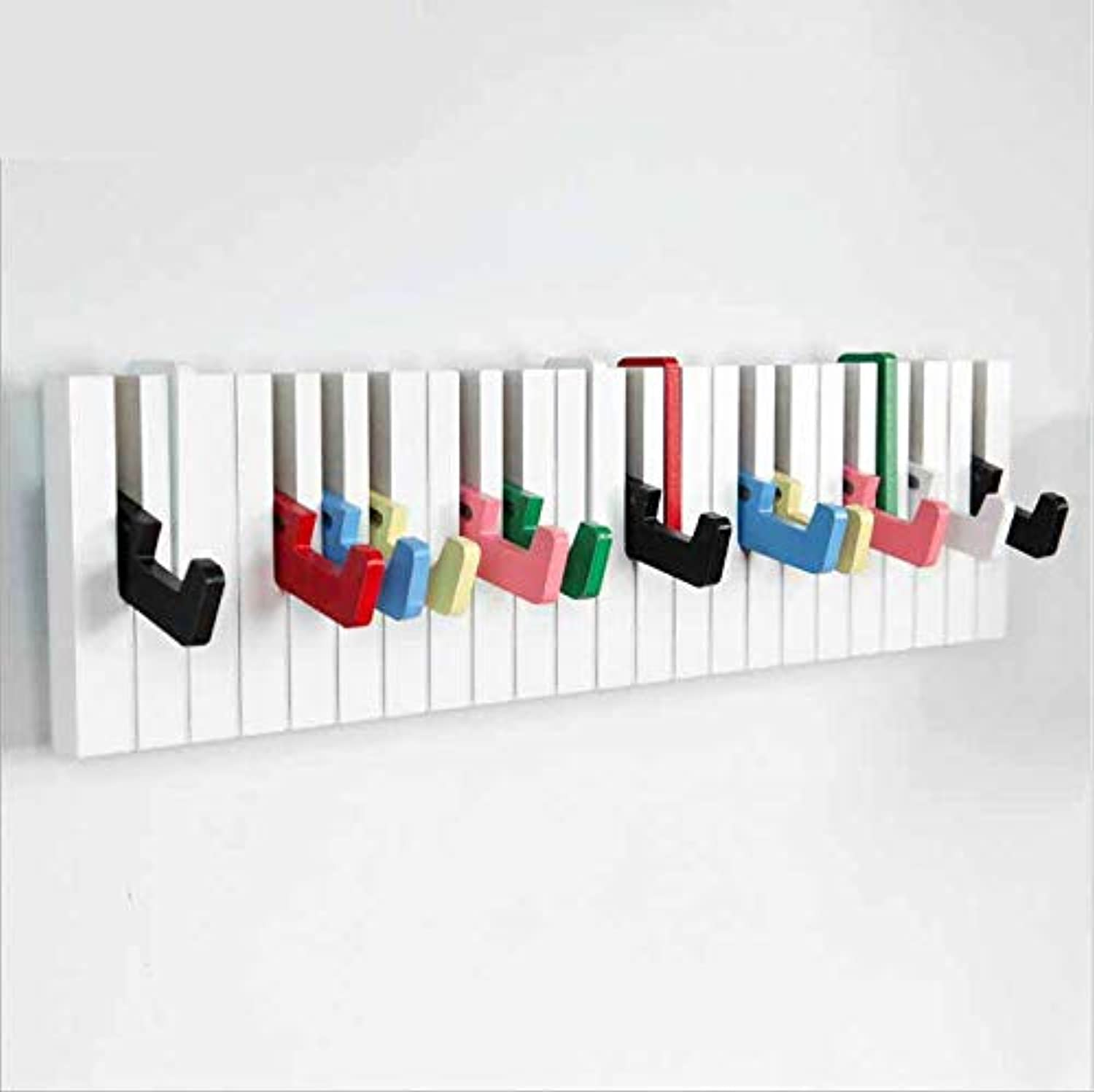 Wall Mounted Floating Coat Racks Piano Music Notes Coat Hooks for Home Office Hallway Waiting Room Living Room Bedroom Retractable,bluee