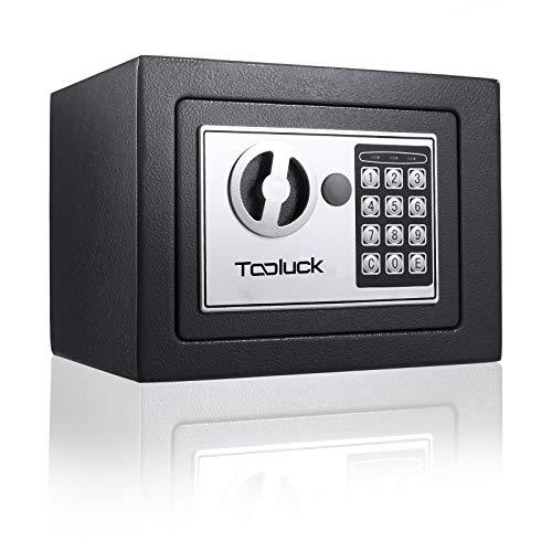 TOOLUCK- Caja Fuerte, con Cerradura Electrónica y 2 llaves de Emergencia, Montada...