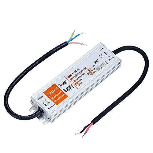 Yafido Led Trafo 12V 50W 4,16A IP67 Driver Leuchtmittel Transformator Für G4 MR11 MR16 GU5.3 LED Birne sowie Lichtstreifen 230V auf 12V Treiber