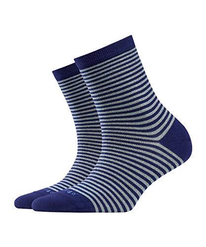BURLINGTON Damen Socken Ladywell Ringlet - Baumwollmischung, 1 Paar, Blau (Bluecollar 6733), Größe: 36-41