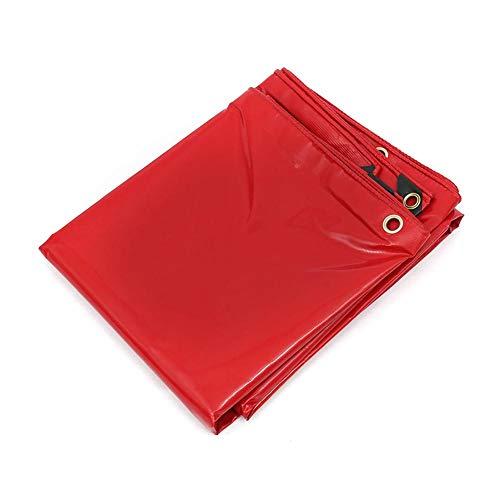 MENG waterdicht dekzeil, zware rode kunststofgecoate vloerbedekking, geschikt voor kamperen, vissen, tuin en huisdieren