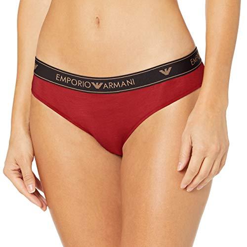 Emporio Armani Underwear Damen Brief Holidays HOLY Cotton Taillenslip, Rot (Rubino 13174), 34 (Herstellergröße: XS)