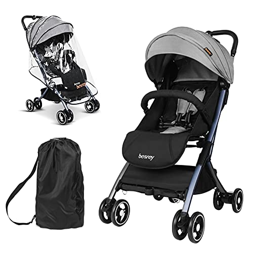 besrey Lightweight Baby Stroller,Easy Fold Compact Travel Stroller for Airplane,Convenience Stroller...