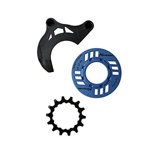 Miranda Kettenschutz-Set für E-Bike 14 Zähne Kettenführung für GEN 2 blau