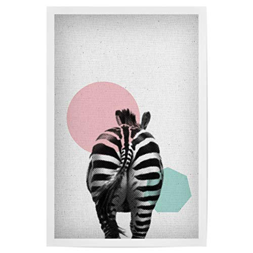 artboxONE Poster 45x30 cm Für Kinder Zebra 01