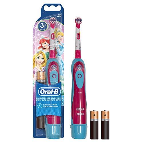Oral-B Stages D2010 Advance Power Spazzolino a Batteria per Bambini con Principesse o Personaggi Cars Disney - 1 Manico e 1 Testina Di Ricambio