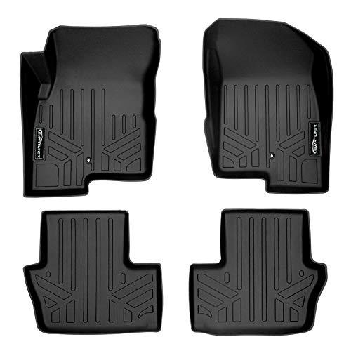 MAXLINER Floor Mats 2 Row Liner Set Black for 2007-2012 Dodge Caliber / 2007-2017 Jeep Patriot/Compass Old Body Style