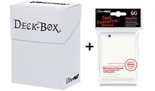 Ultra Pro Deck Box + 60 Small Size Protector Sleeves - Weiß - White - Yu-Gi-Oh! - Japanese Mini