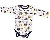 Babybogi Paw Patrol Baby Body für Jungen   Größe 62 68 74 80 86   Babybody aus 100% Baumwolle   Wickelbody Langarm für Jungen mit Druckknöpfen (86)